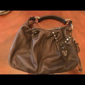 Juicy Couture Brown Leather Shoulder Bag